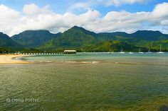 Hanalei Bay Pier. Offering a totally different  but breathtaking sunset every night for your viewing pleasure.