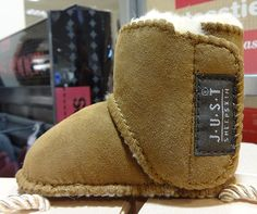 Totes Just Sheep Skin Children's Bootie in tan at Austins Department Store, Newton Abbot 2014