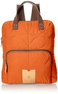 Orla Kiely Quilted, Sac portés dos femme - Orange (Mandarin), Taille Unique: Amazon.fr: Chaussures et Sacs