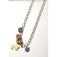 Battiquore Milano | Collana in argento 925 dorato con charms
