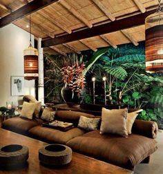 Wonderful Rustic Living Room Decor Ideas And Remodel - Page 19 of 144 - Afs. - Wonderful Rustic Living Room Decor Ideas And Remodel – Page 19 of 144 – Afshin Decor - Interior Tropical, Tropical Wall Decor, Tropical Furniture, Tropical Colors, Bali Furniture, Rustic Furniture, Bedroom Furniture, Furniture Ideas, Decoration Chic