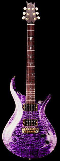 Driskill Diablo - Shared by The Lewis Hamilton Band Guitar Art, Cool Guitar, Acoustic Guitar, Bass Guitars, Electric Guitars, Purple Guitar, Pool Rafts, Unique Guitars, Beautiful Guitars