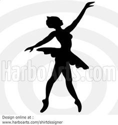 Ballerina girl - Vector graphic drawing - DOWNLOAD >>…