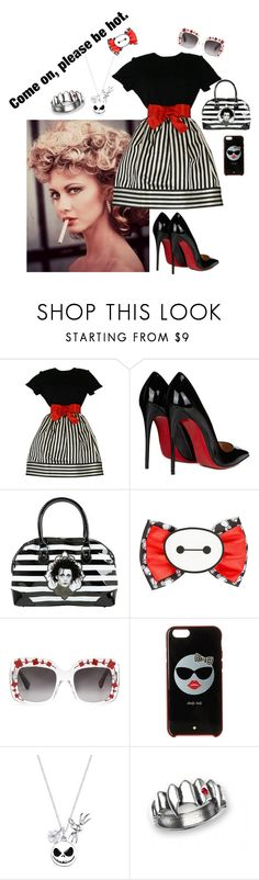 """Please be hot"" by not-your-southern-bell ❤ liked on Polyvore featuring Bill Blass, Christian Louboutin, Rock Rebel, Disney, Gucci, Kate Spade and Folio"