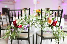 Colorful Chair Garlands | photography by http://www.adriennegunde.com