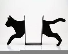 Bookends Running Cat laser cut for by DesignAtelierArticle by Sandra Horta e Silva Crazy Cat Lady, Crazy Cats, Decoration Bedroom, Cat Decor, Cat Gifts, Cat Lover Gifts, Cat Laser, Cat Tent, Cat Hacks