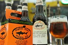 my favorite craft beer! Dogfish Head Craft Brewery in Milton, Del. shows their Punkin Ale.