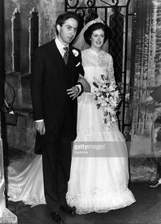 Mr Gelhar, a German-born banker, and Lady Henrietta Spencer-Churchill on their wedding day at Woodstock. The reception was held at Blenheim Palace.