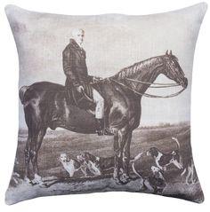 Horse Cotton Throw Pillow