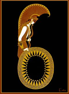 """SIX"" by Erte - Art Deco Design Wikipaintings.org"