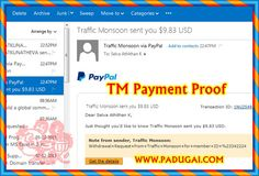 #AffiliateMarketing Work site TM Payment Proof.  Do simple #DigitalMarketing work and earn big, without investment  http://www.padugai.com/job