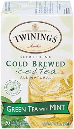 Twinings Cold Brew Tea, Green Tea with Mint, 20 Count Bagged Tea (6 Pack) *** For more information, visit image link.