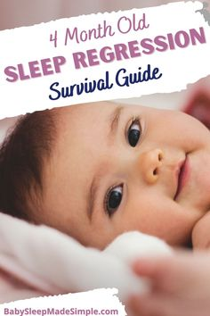 Do you want to survive the 4 month old sleep regression? This is the article for you. It helps you understand what it is, and how to survive it. This article also walks you through many other 4 month old sleep problems to help your baby go back to sleep like she used to. Find out everything moms and parents need to know about their baby at this age, using this ultimate guide with all the solutions. #babysleepregressions #babysleep #childsleep #4monthold #4monthsleepregression #babysleeptips 4 Month Old Sleep, 4 Month Old Baby, Toddler Sleep, Kids Sleep, How To Get Sleep, How To Stay Awake, 4 Month Regression, Gentle Sleep Training, Baby Sleep Schedule