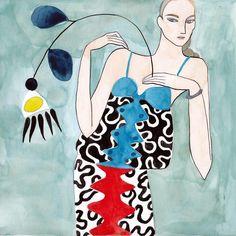 @kellymariebeeman Paints Fashion Illustrations with a...