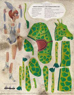 DIY Fun Giraffe & Pretty Lady Printable PDF by ArtistInLALALand, $3.50