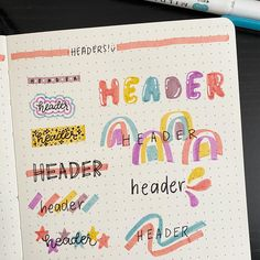 Best Bullet Journal Header Ideas that will enhance the look of your BuJo. Creative & gorgeous bullet journal header ideas #bulletjournal #Bujo #Bulletjournalheaderideas