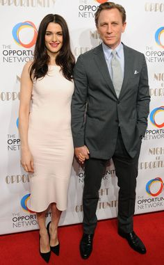 Daniel Craig and Rachel Weisz Make Rare Joint Red Carpet Appearance at Night of Opportunity Gala | E! Online Mobile
