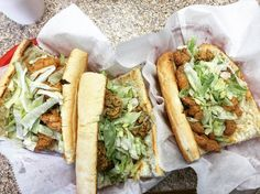 A must-have when visiting Louisiana. #poboy #poboysandwich #friedshrimp #friedoyster #friedcrawfish #shrimppoboy #oysterpoboy #crawfishpoboy #cajunfood #lifebeyondrice #foodpic #foodphoto #foodblogger #foodbloggerlife #foodtravel #foodtraveler #foodielife #foodieblog #foodiegram #foodietravel #foodietravels #cajunfood