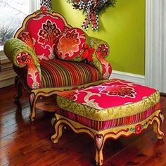 26 Colorful Rooms Everyone Should Have - Home Decoration Experts Funky Furniture, Colorful Furniture, Unique Furniture, Shabby Chic Furniture, Painted Furniture, Colorful Rooms, Furniture Market, Furniture Design, Funky Chairs