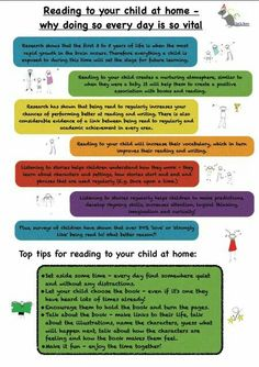 Reading to your child is so important so we created a handout to encourage parents. You can download it from www.aceearlyyears.com/parent-partnership.html #earlyyears #eyfs #aceearlyyears