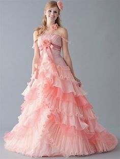 Pink Wedding Dresses - THIS COLOUR ♡