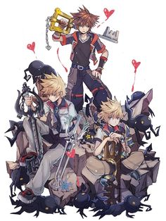 One heart two souls Kingdom Hearts Keyblade, Kingdom Hearts Games, Kingdom Hearts Characters, Kingdom Hearts Fanart, Kingdom Hearts Wallpaper, Heart Wallpaper, Kingdom Hearts Crossover, Cry Anime, Character Art