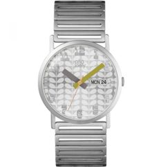 Refresh your timepiece collection with this Madison watch from Orla Kiely. The metal bracelet and face adds a sophisticated appearance to any outfit, perfect for everyday wear. Orla Kiely Watch, Orla Keily, Unisex, Metal Bracelets, Discount Designer, Omega Watch, Bracelet Watch, Branding Design, Jewels