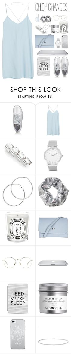 """""""Untitled #77"""" by kell-a ❤ liked on Polyvore featuring NIKE, MANGO, Maison Margiela, Larsson & Jennings, Melissa Odabash, Essie, Monki, Diptyque, Topshop and Linda Farrow"""