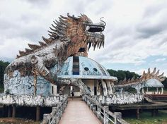Abandoned theme park Hồ Thuỷ Tiên in Hué, Vietnam (c) Teejay Hughes Derelict Places, Derelict Buildings, Abandoned Places, Abandoned Theme Parks, Abandoned Amusement Parks, Places Around The World, Around The Worlds, Vietnam Travel Guide, Ways To Travel