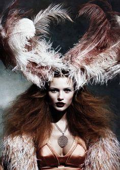 Edita Vilkeviciute by Patrick Demarchelier for German Vogue