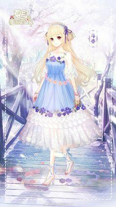 Anime Girl Pink, Anime Girl Dress, Anime Art Girl, Dress Up Diary, Anime Princess, Fantasy Dress, Beautiful Anime Girl, Kawaii, Anime Outfits