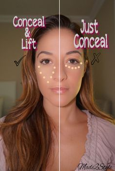 Concealer can help you to conceal all the dark spots, large pore, acne, and blemishes. Here is step by step tutorial on how to apply concealer like a pro. Get Rid Of Blackheads, Pimples, Festival Make Up, Beauty Hacks For Teens, How To Apply Concealer, How To Apply Makeup, How To Wear Makeup, Applying Makeup, Maquillaje