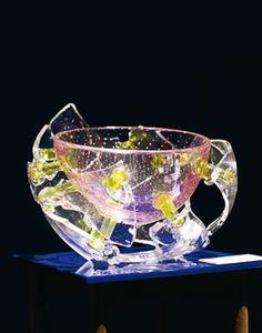 Bořek Šípek - Paul Gaultier bowl Glass Molds, Pressed Glass, Carnival Glass, Czech Glass, Glass Art, Touch, Live, Crystals, Beauty