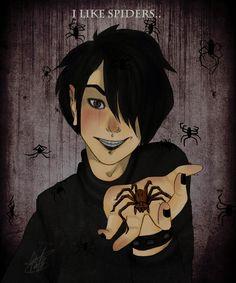 I like spiders, loss, and rain by kaadianSmear