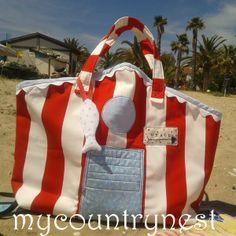 My country nest: Beach hut bag - quando la cabina spiaggia diventa borsa