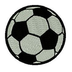 Black/White Soccer Ball Embroidered Patch $6.25. FREE SHIPPING! Embroidered Patch, Iron On Patches, Soccer Ball, Embroidery, Free Shipping, This Or That Questions, Black And White, Needlepoint, Blanco Y Negro