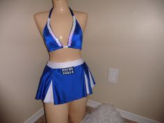 indiana COLTS professional football  halloween costume cheerleading skirt set stripper exotic dancer pom pons by gabriellescostumes on Etsy