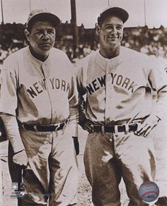Framed Babe Ruth and Lou Gehrig Print Mlb Players be12f3e2d715