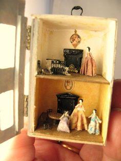 De * DJD * Dollhouse para una casa de muñecas, amueblado.