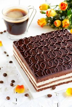 "ТОРТ. Торт ""Опера"" Chocolate and coffee cake ""Opera""."