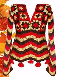 beside crochet: غرز زجزاج متنوعة.Variety of zigzag stitches