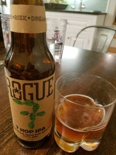 Rogue 7 Hop (A)IPA is a 7.77 ABV and 76 IBU and uses Rogue Farms Liberty, Newport, Revolution, Rebel, Independent, Freedom & Alluvial Hops. The appearance is orange amber and the nose malty citrus. The flavor basically follows, a good balance of those sweet malts and citrusy bitter west coast hop with neither being particularly overpowering. Mouthfeel is smoth and a bit creamy and well in line with the style. Just like the 8 hop it's a decent IPA but nothing outstanding.