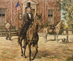 Abraham Lincoln ~ Circuit Lawyer by Lee Dubin ~ nostalgic art