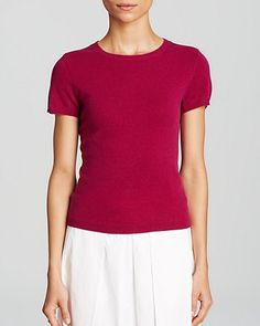 C by Bloomingdale's Short Sleeve Cashmere Sweater | Bloomingdale's