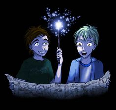 Harry and Ginny's children stole the Marauder's Map and snuck it into Hogwarts.