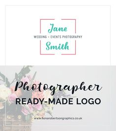 Are you branding on a budget? This ready made logo is ideal for a start-up or young photography business. Small Business Marketing, Business Branding, Business Design, Event Photography, Photography Business, Branding Design, Logo Design, Photographer Branding, Graphic Design Templates