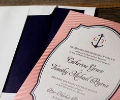 With seaside dreams of pretty letterpress, Harbor Beach sings of a refined elegant wedding.