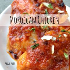 Moroccan Chicken Recipe Main Dishes with chicken, ghee, crushed ...