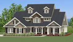 Hillsborough House Plan 9051 - 4 Bedrooms and 3.5 Baths | The House Designers