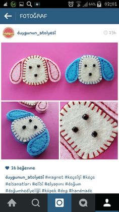 köpek keçe magnetler / dog seal magnets